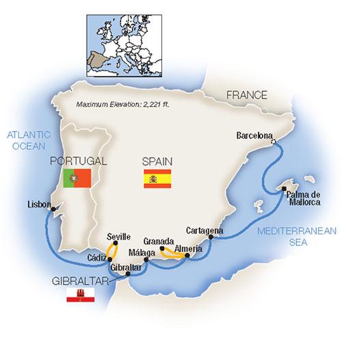 Barcelona to Lisbon Cruise