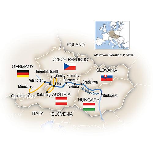 Danube River Cruise Map