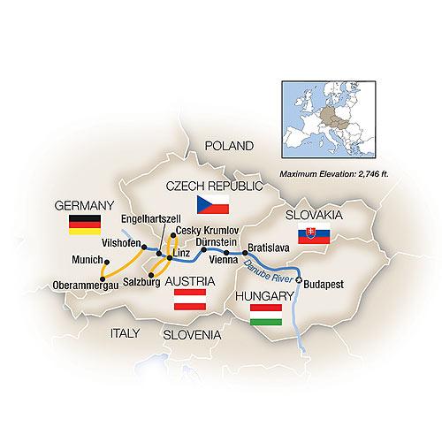 Blue Danube River Cruise Map