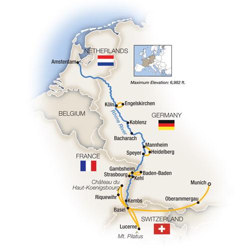 Amsterdam River Cruises Map