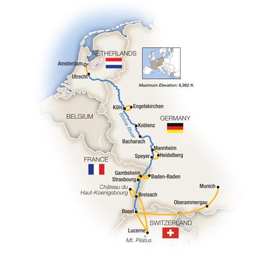 Amsterdam River Cruise Map