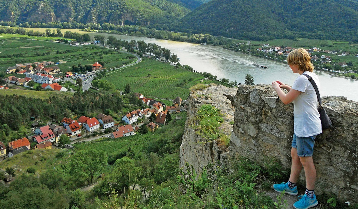On the Danube River: the picturesque medieval town of Dürstein, Austria.