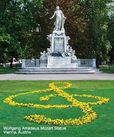 Wolfgang Amadeus Mozart Statue In Vienna, Austria
