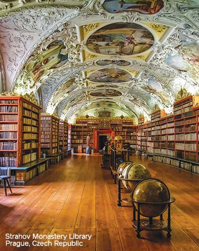 Strahov Monastery libraries in Prague