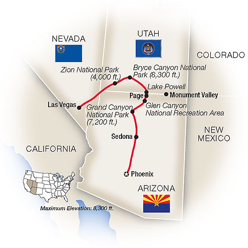 Red Rocks Painted Canyon Arizona Escorted Family Tour