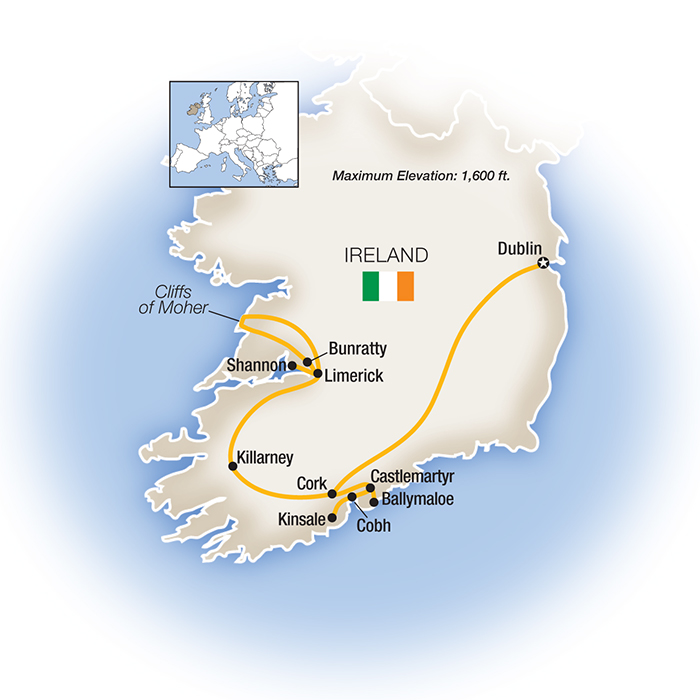 Bridges Ireland map