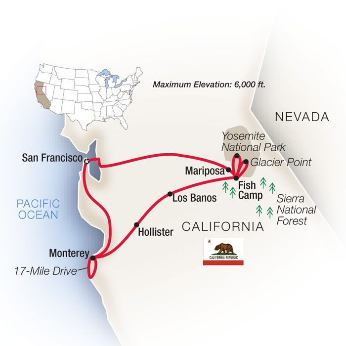 Majestic California Family Guided Tour
