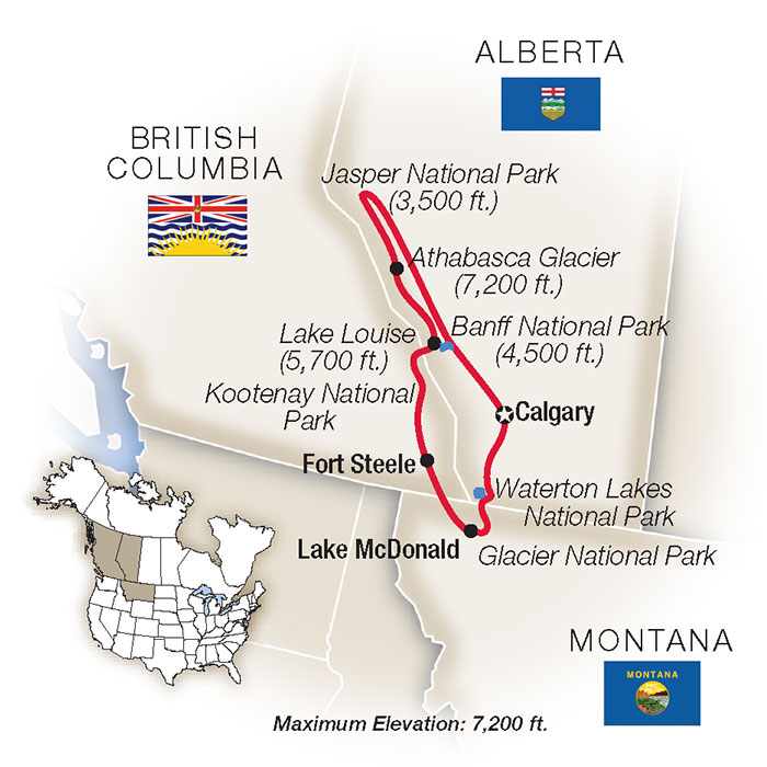 Canadian Rockies Map