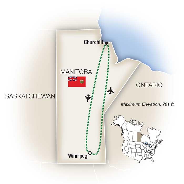 Manitoba Polar Bear Tours Map