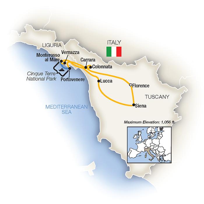 Tuscany Cinque Terre Escorted Tour
