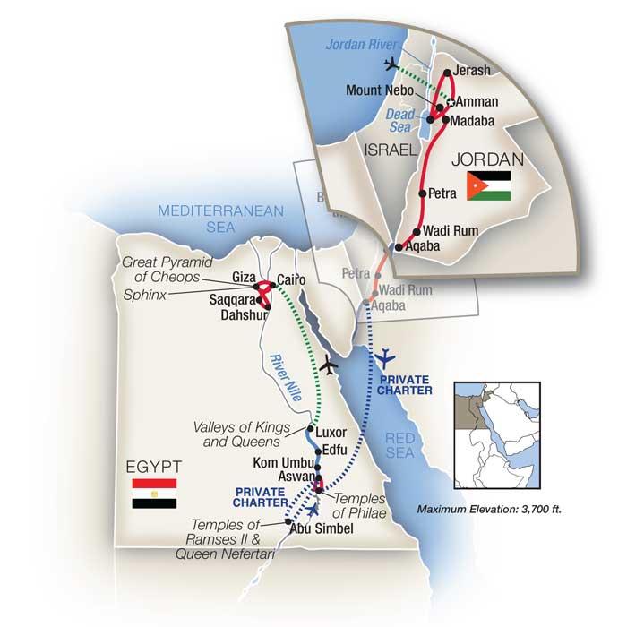 Petra to Pyramids Egypt Jordan Tour