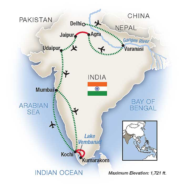 Escorted Tours of India