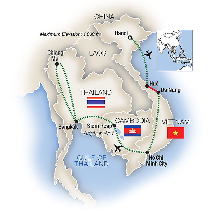 Vietnam Escorted Tours - Thailand, Cambodia, Laos