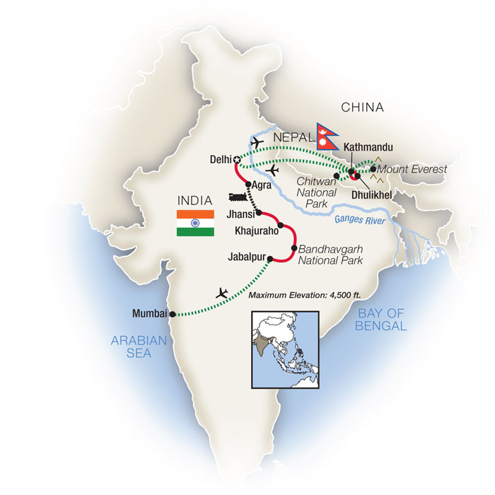 India & Nepal Tours & Escorted Tour Packages