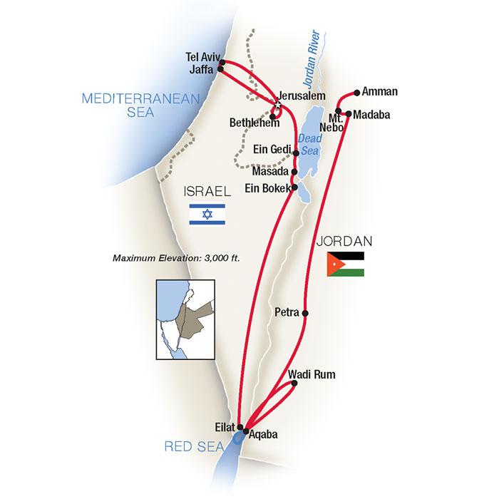 Jerusalem, The Red Sea & Petra