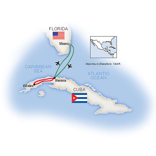 Connecting People Culture Escorted Cuba Tour Map