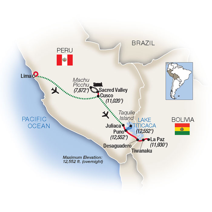 Peru & Bolivia Tours & Tour Packages