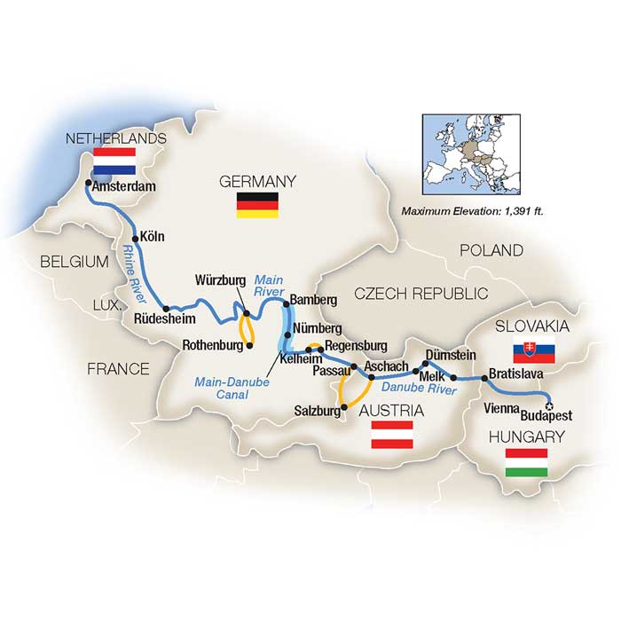 Budapest to Amsterdam River Cruise