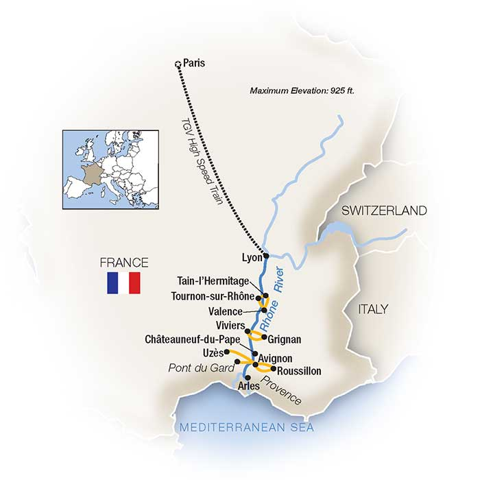 South Of France And Italy Map.Southern France River Cruises Tauck