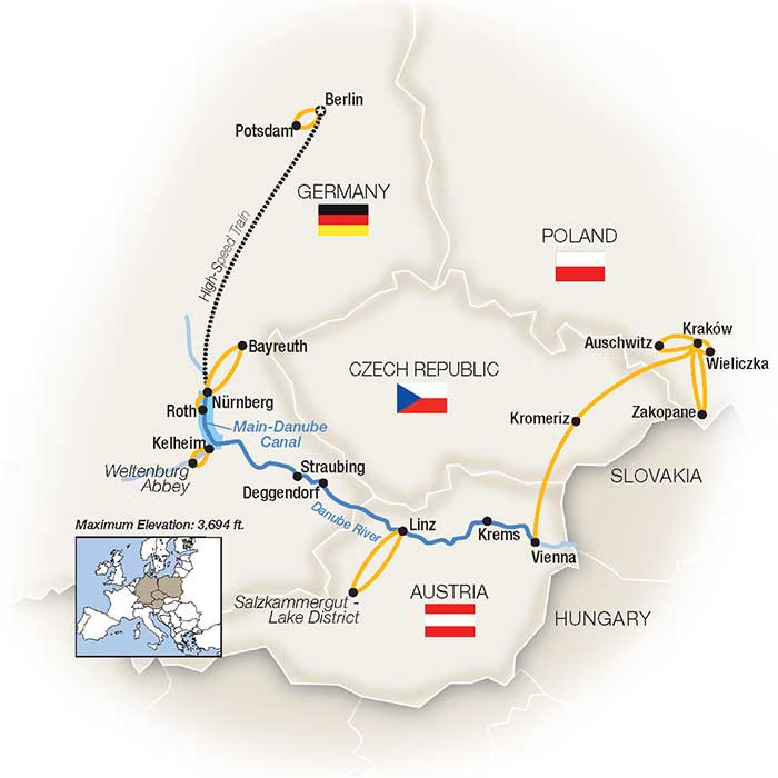 Map Of Germany Krakow.Poland Cruises Tauck