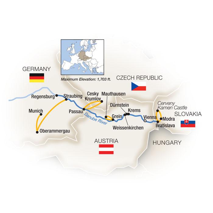 Danube Reflections featuring Oberammergau Westbound