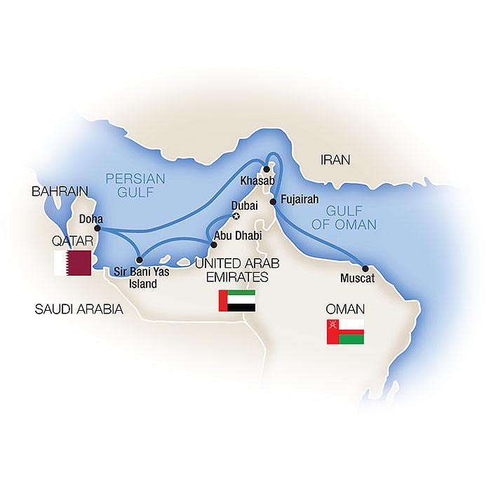 Persian Gulf cruise map