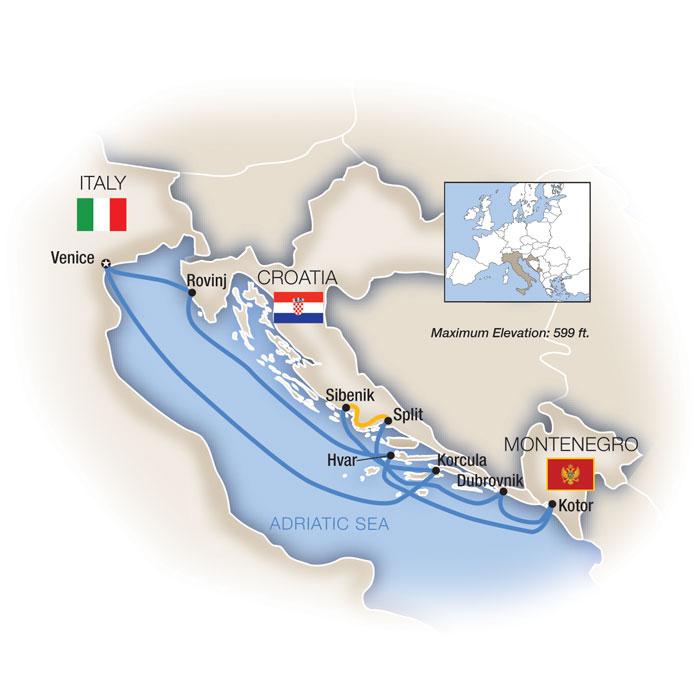 Venice Dalmatian Coast Cruise