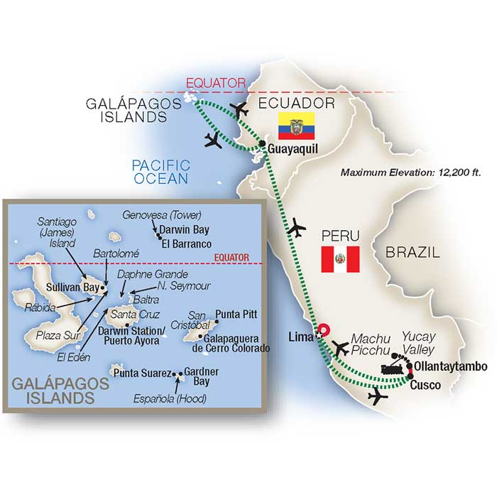 Machu Picchu Tours and Galapagos Islands Vacation
