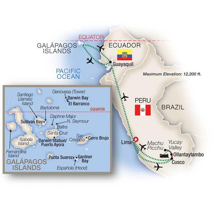 Machu Picchu & Galápagos Tour