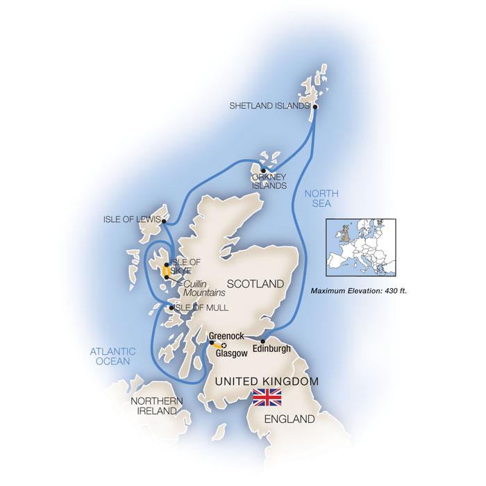 Legendary Scottish Isles Edinburgh Glasgow Scotland Cruise