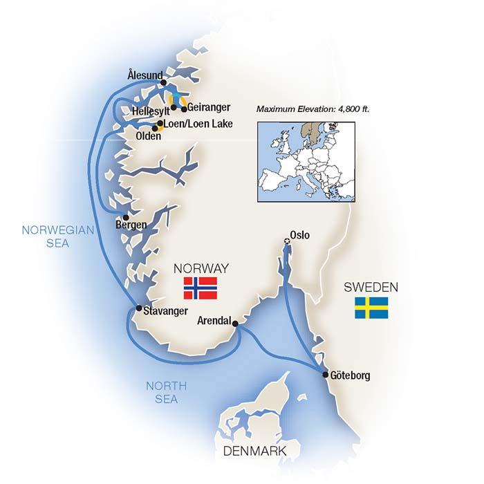 Fjords Coastal Treasures Norway Cruise