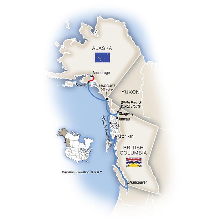 Alaska's Inside Passage Map