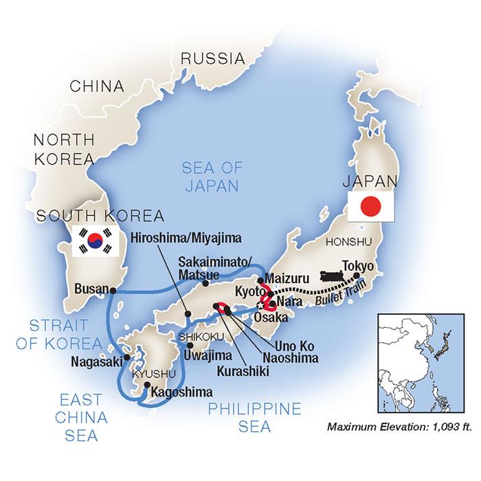 Cruises around Japan