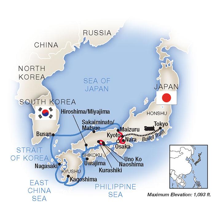 Cruise Around Japan
