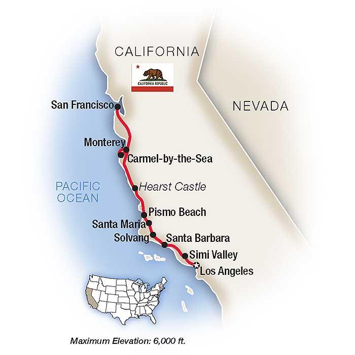 California's Gold Coast Map