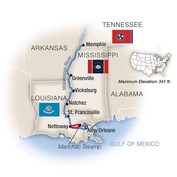 Life on the Mississippi Map