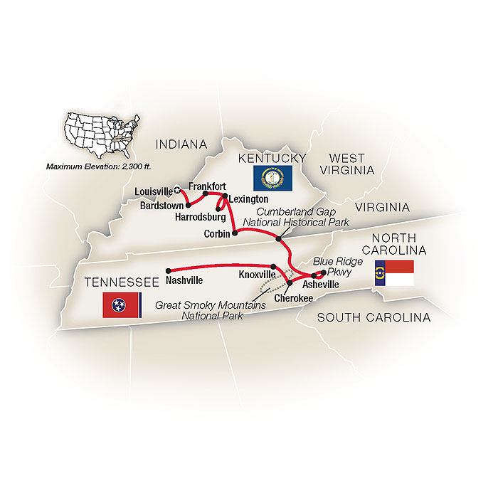 Kentucky Tour Map