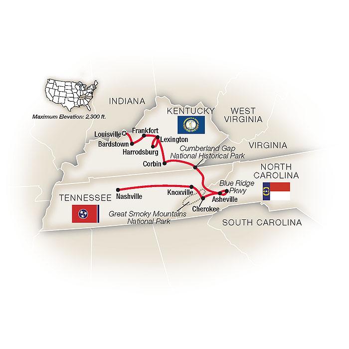Kentucky Tour Map