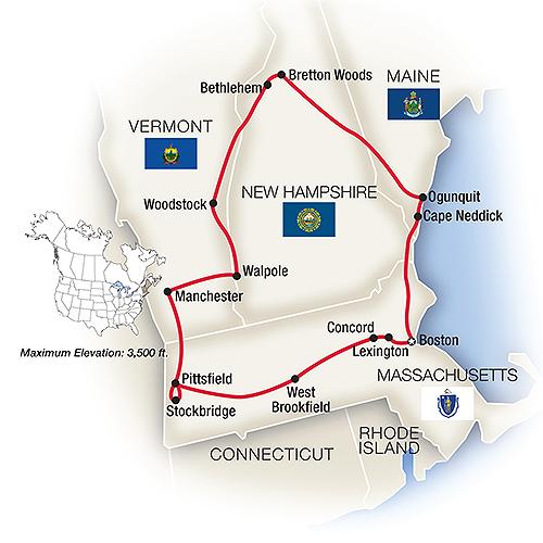 New England Escorted Tours