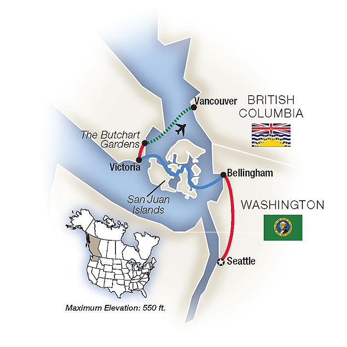 Pacific Northwest Map