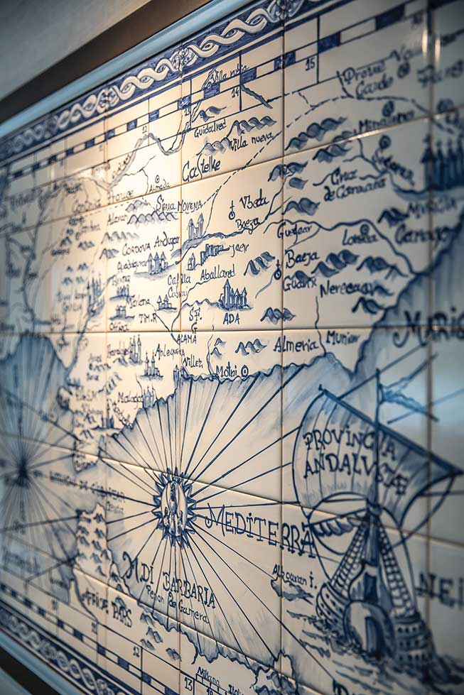 Tauck Andorinha - Azulejo Wall Map